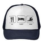 Eat Sleep Swim Trucker Hats