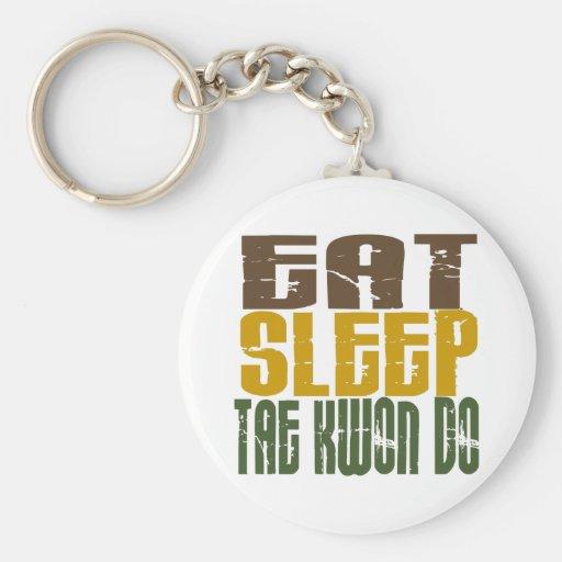Eat Sleep Tae Kwon Do 1 Key Chain