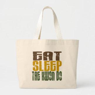 Eat Sleep Tae Kwon Do 1 Large Tote Bag