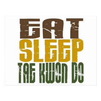 Eat Sleep Tae Kwon Do 1 Post Card