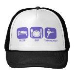 eat sleep taekwondo trucker hats