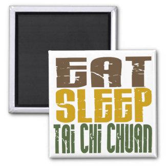 Eat Sleep Tai Chi Chuan 1 2 Inch Square Magnet