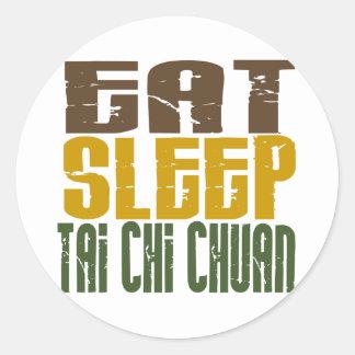 Eat Sleep Tai Chi Chuan 1 Classic Round Sticker