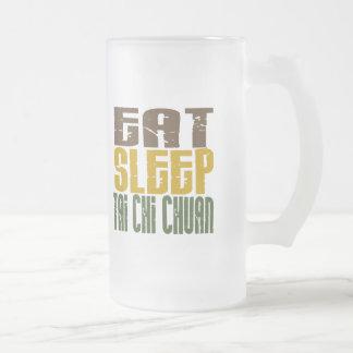 Eat Sleep Tai Chi Chuan 1 16 Oz Frosted Glass Beer Mug