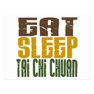 Eat Sleep Tai Chi Chuan 1 Postcard