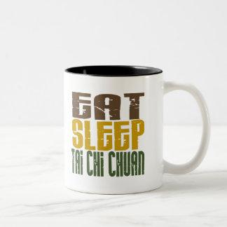 Eat Sleep Tai Chi Chuan 1 Two-Tone Coffee Mug