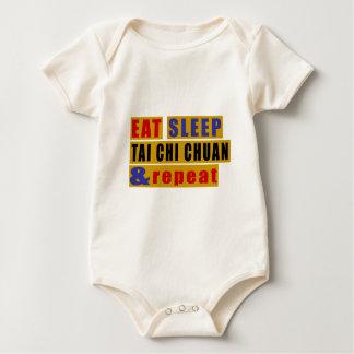 Eat Sleep TAI CHI CHUAN And Repeat Baby Bodysuit