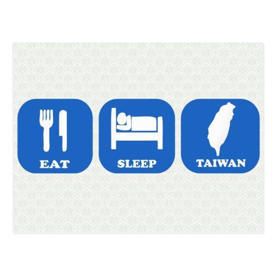 Eat Sleep Taiwan Postcard