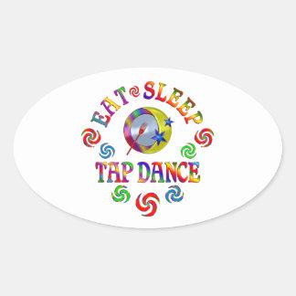 Eat Sleep Tap Dance Oval Sticker