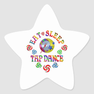 Eat Sleep Tap Dance Star Sticker