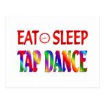 Eat Sleep Tap Dancing Postcard