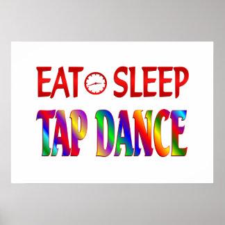 Eat Sleep Tap Dancing Poster