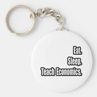 Eat. Sleep. Teach Economics. Keychain