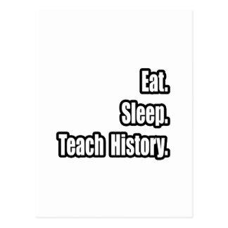 Eat Sleep Teach History Postcard