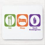 Eat Sleep Teach Kindergarten Mouse Mat