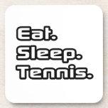 Eat. Sleep. Tennis. Beverage Coaster