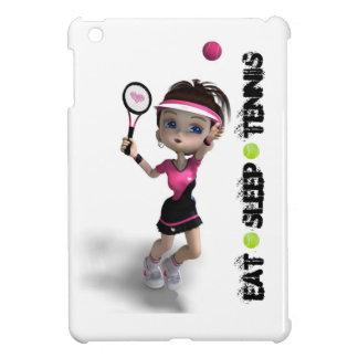 Eat, Sleep, Tennis, Brunette Girl Serving Case For The iPad Mini