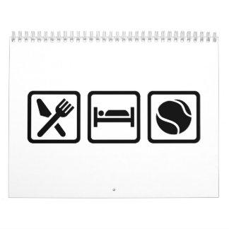 Eat Sleep Tennis Calendar
