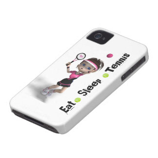 Eat Sleep Tennis Girl iPhone 4 Covers