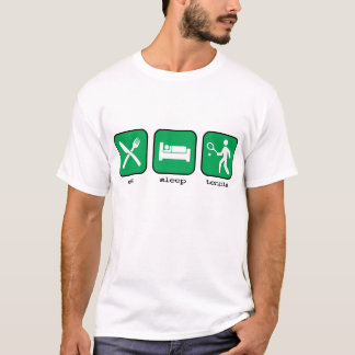 Eat Sleep Tennis Green T-Shirt