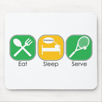 Eat Sleep Tennis Mouse Pads