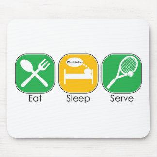 Eat Sleep Tennis Mouse Pads