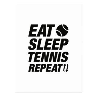 Eat Sleep Tennis Repeat Postcard