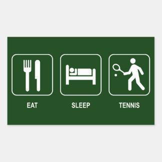 Eat Sleep Tennis Sticker