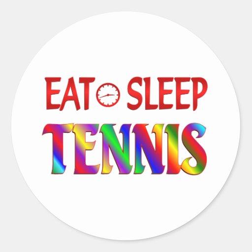 Eat Sleep Tennis Round Stickers