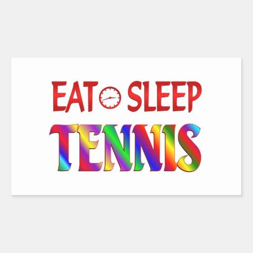 Eat Sleep Tennis Rectangle Stickers