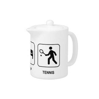 Eat Sleep Tennis Teapot