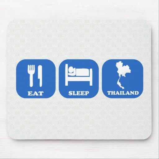 Eat Sleep Thailand Mouse Pads