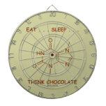 Eat ... Sleep ... Think Chocolate (Theobromine) Dart Board