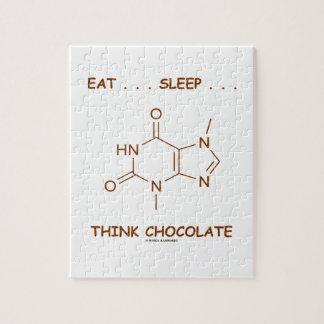 Eat ... Sleep ... Think Chocolate (Theobromine) Jigsaw Puzzle