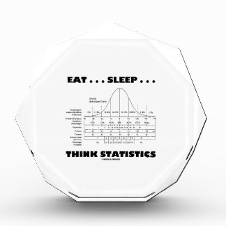 Eat ... Sleep ... Think Statistics (Bell Curve) Acrylic Award