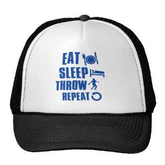 Eat sleep Throw Mesh Hats