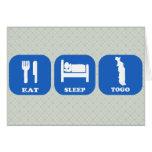 Eat Sleep Togo Greeting Cards