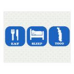 Eat Sleep Togo Post Cards