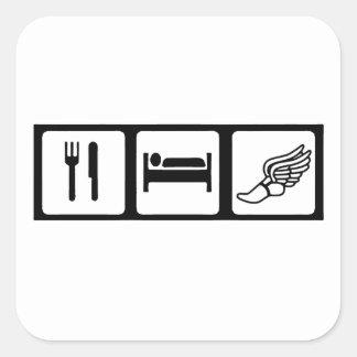 Eat, Sleep, Track Square Sticker