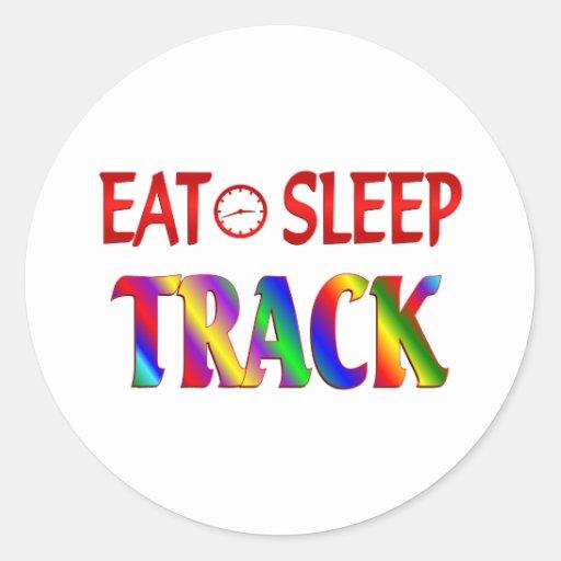Eat Sleep Track Sticker