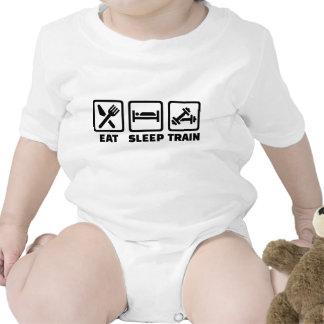 Eat Sleep Train Bodybuilding Baby Bodysuit