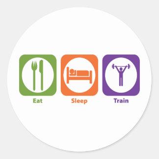 Eat Sleep Train Classic Round Sticker