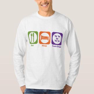 Eat Sleep Train Dogs T-Shirt