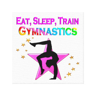 EAT, SLEEP TRAIN GYMNASTICS CANVAS PRINT