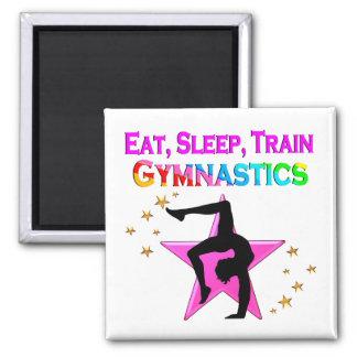 EAT, SLEEP TRAIN GYMNASTICS MAGNET