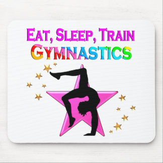 EAT, SLEEP TRAIN GYMNASTICS MOUSE PAD