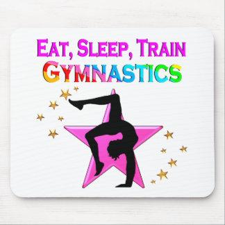 EAT, SLEEP TRAIN GYMNASTICS MOUSE PAD