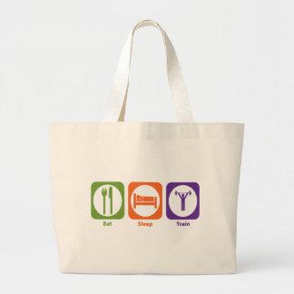 Eat Sleep Train Jumbo Tote Bag