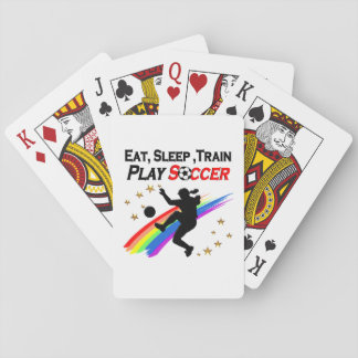 EAT, SLEEP TRAIN PLAY SOCCER ALL DAY LONG PLAYING CARDS