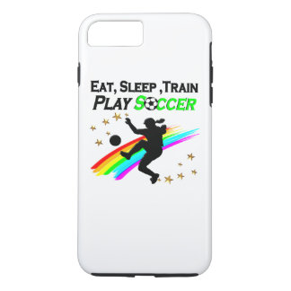 EAT, SLEEP, TRAIN PLAY SOCCER iPhone 7 PLUS CASE